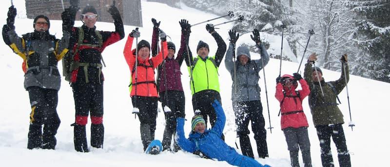 Schneeschuh Wanderung Firmenevent