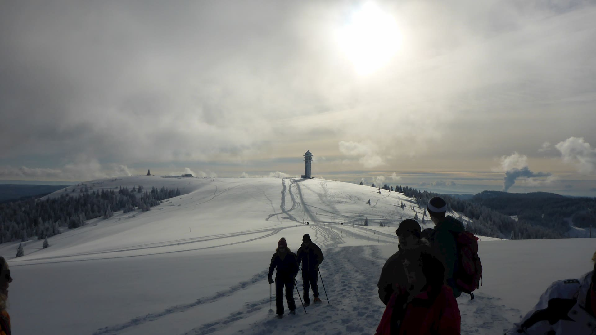 Schneeschuhwandern Feldberg Gipfeltrail
