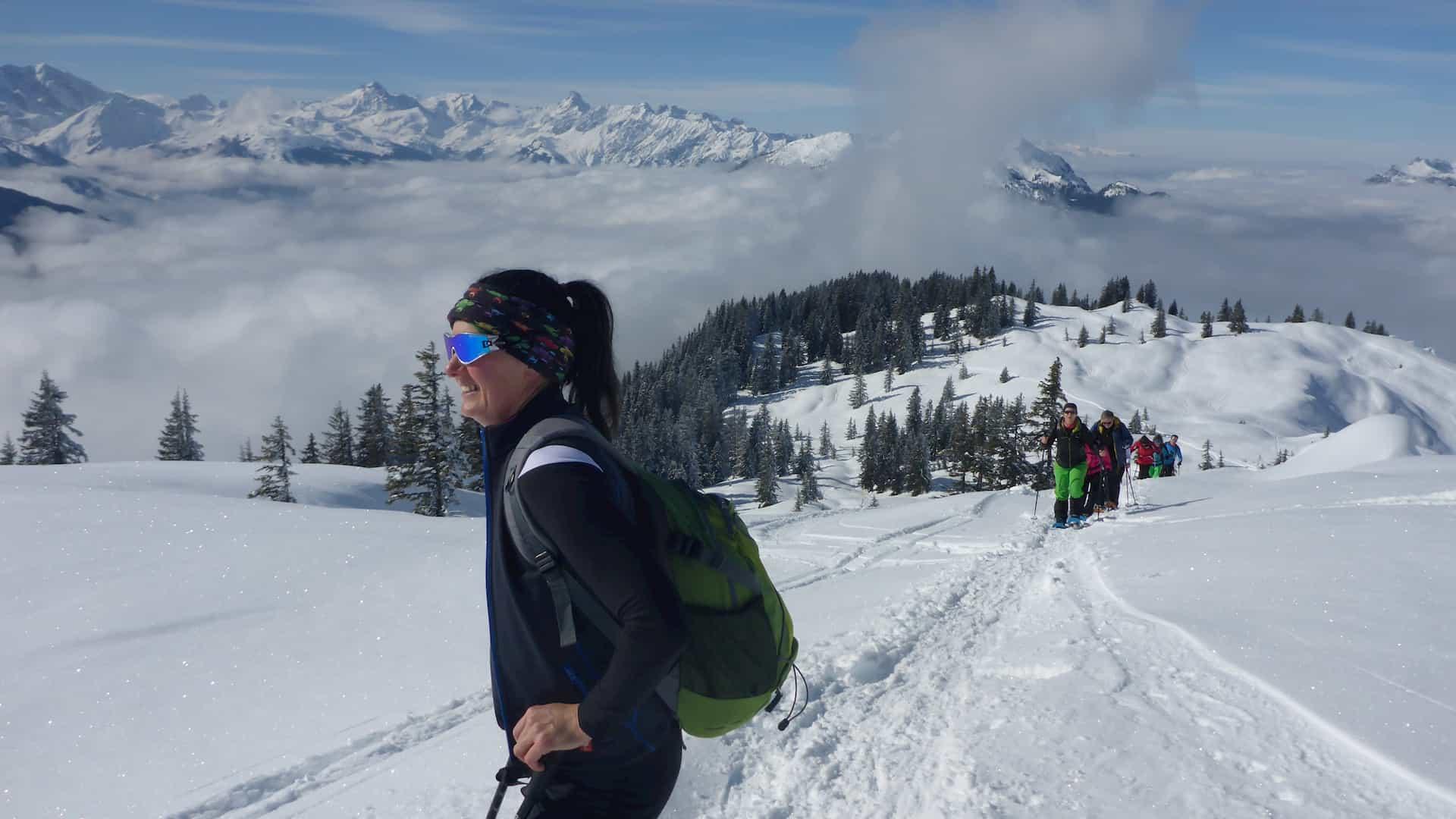 Alpine Schneeschuhwanderung Montafon