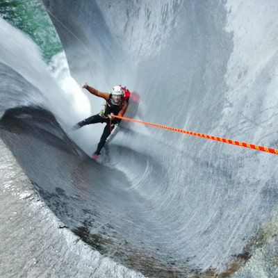 Abseilen Canyoning